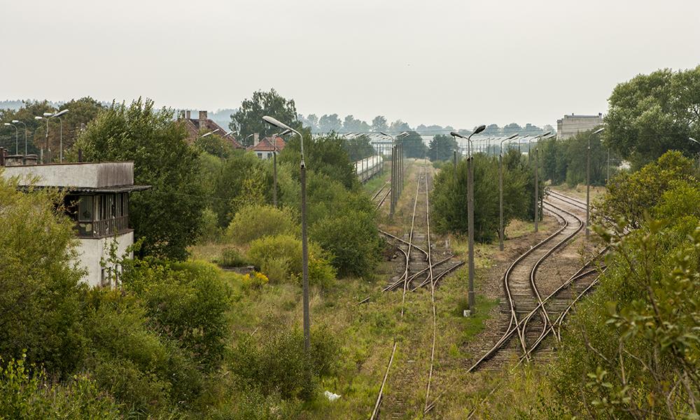 Stacja widziana z wiaduktu Nowatorów - wrzesień 2015