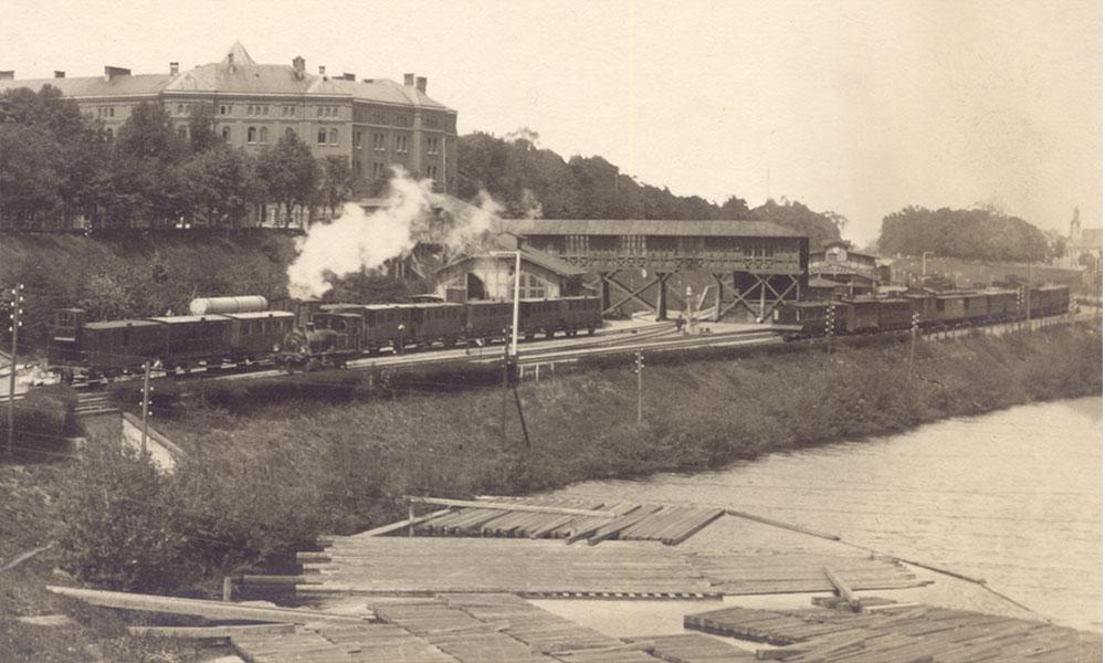 Dworzec Gdańsk Brama Wyźynna ok. 1880 r. Repr. ze zbiorów autora