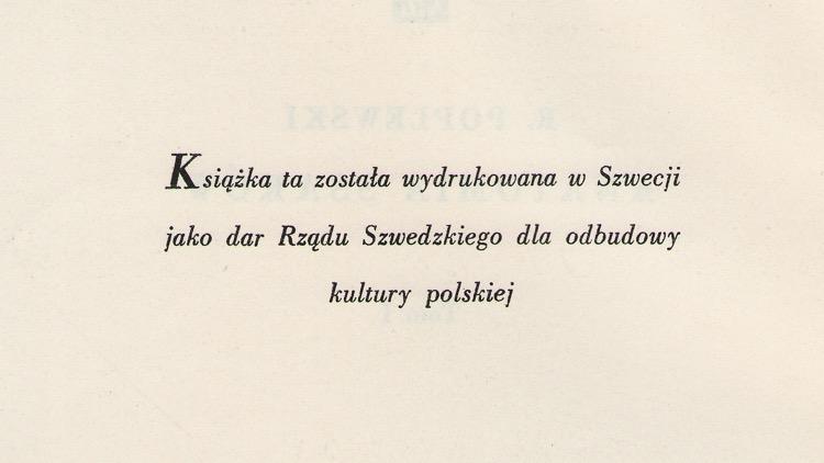 Wpis do podręcznika akademickiego Anatomia ssaków o dofinansowaniu przez rząd szwedzki