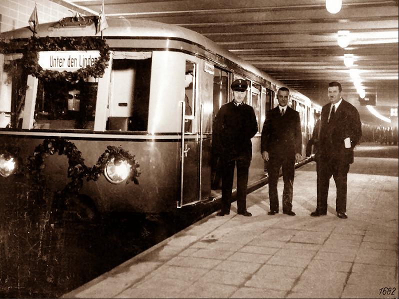 Pociąg serii ET166 Olympiazug w Berlinie, rok 1936
