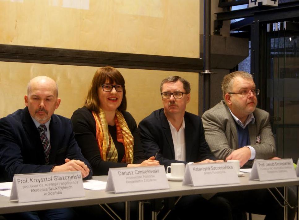 Konferencja prasowa dotycząca mozaiki Anny Fiszer