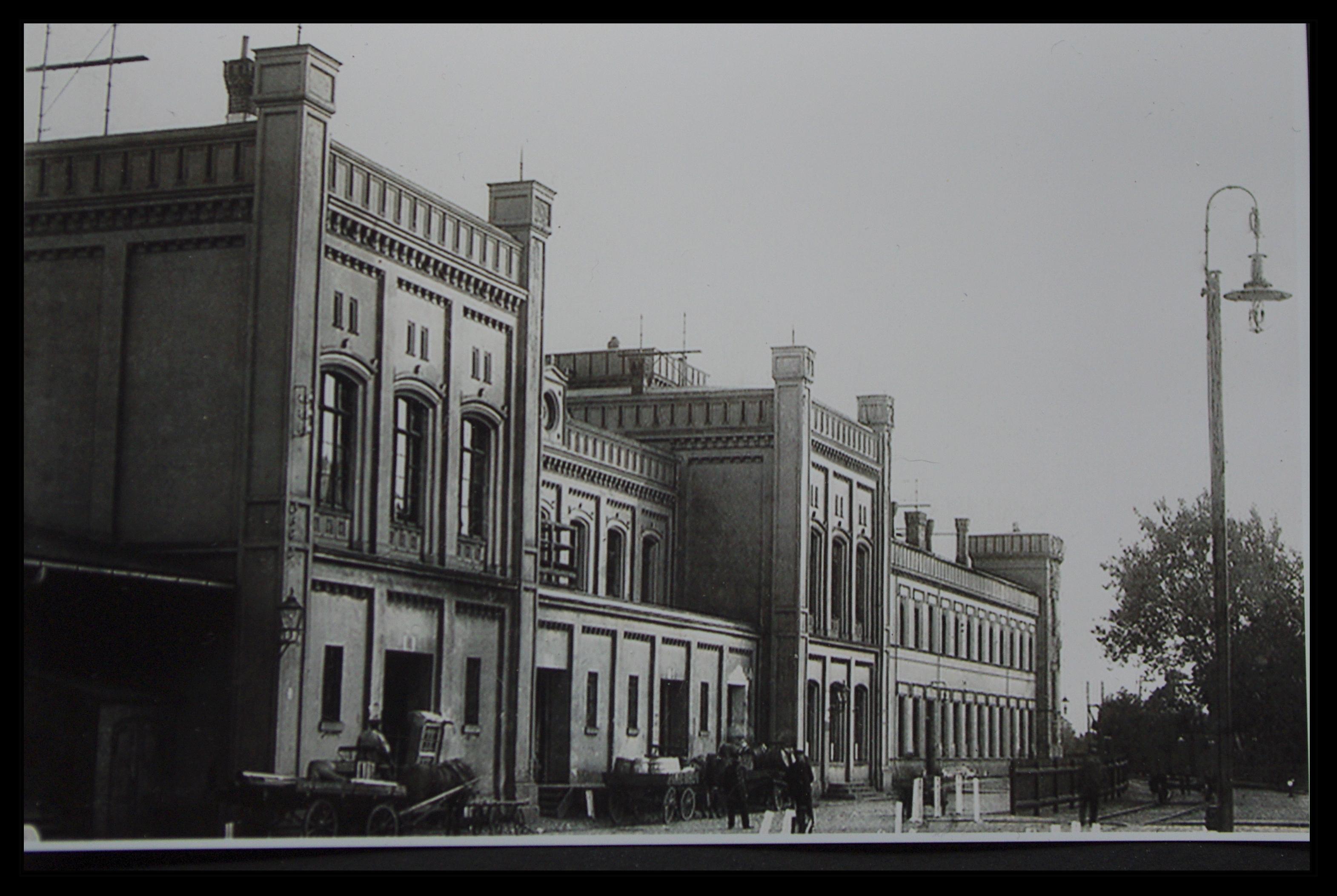 Dworzec Brama Nizinna - fotografia z początku XX wieku