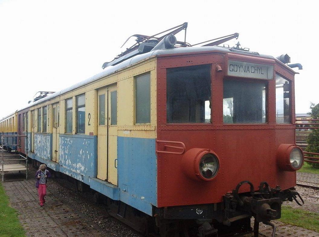Dawny berliński Viertelzug ET165, używany w Gdańsku do obsługi SKM w latach 1951 - 1976 jako seria EW90