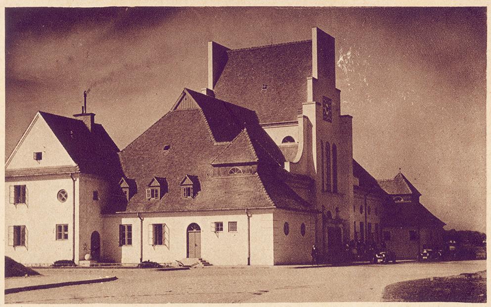 Dworzec gdyński pod koniec lat 20. XX w. Pocztówka ze zbiorów Henryka Jursza
