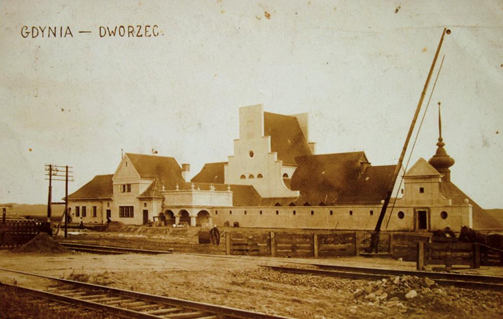 Dworzec w Gdyni 1926 r.