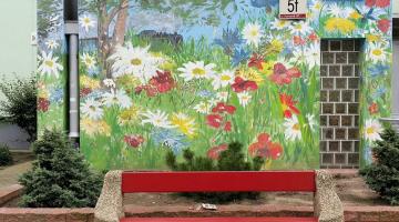 Zaspiański mural / Fot. Ewa Maciejczyk