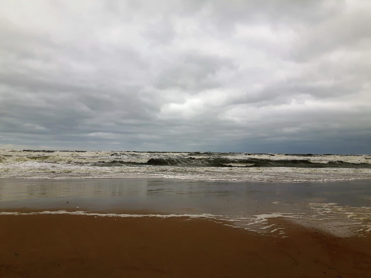 Gdańsk Jelitkowo podczas sztormu / Fot. Justyna Urbańska