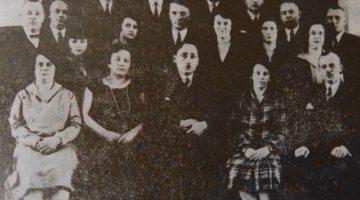 Mieszkańcy Oliwy na spotkaniu organizacyjnym Towarzystwa Ludowego Jedność, 1929 rok / Fot. z archiwum Jerzego Affeltowicza