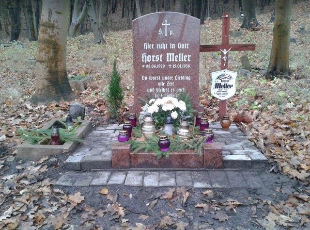 Nagrobek Horsta Mellera / Fot. Mikołaj Sobczak