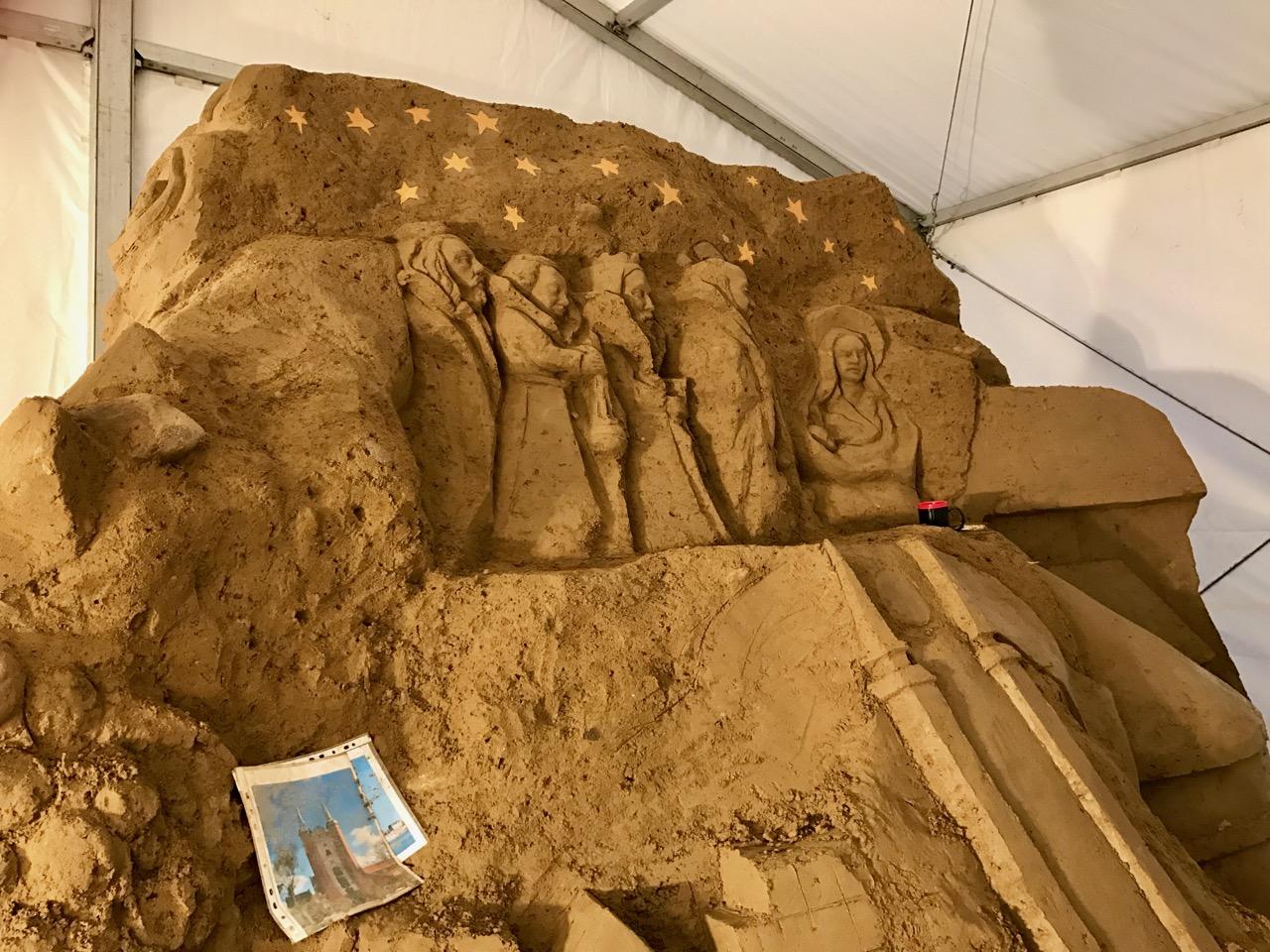 Oliwska szopka z piasku 2016