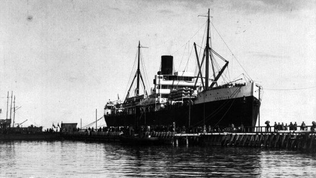 SS Kentucky, Gdynia, 13 sierpnia 1923 r.