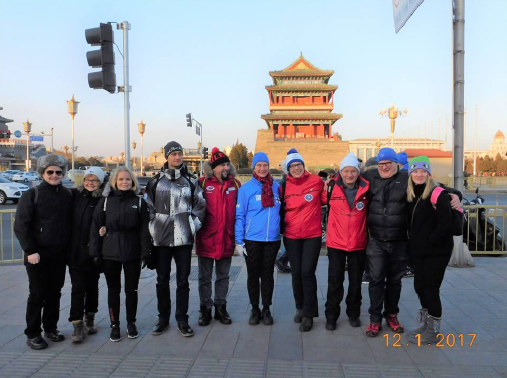 Przy Placu Niebiańskiego Spokoju (Tian'anmen), Pekin, 12 stycznia (fot. W. Lorbiecki)