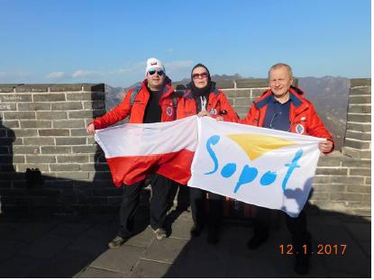 Na szczycie Chińskiego Muru, 12 stycznia (fot. W. Lorbiecki)