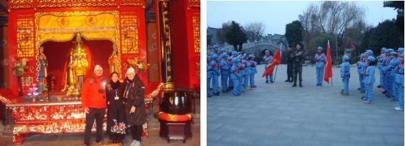W Świątyni Królowej Nieba (Temple of the Queen of Haven). Dzieci - pionierzy, Taierzhaung, 15 stycznia.