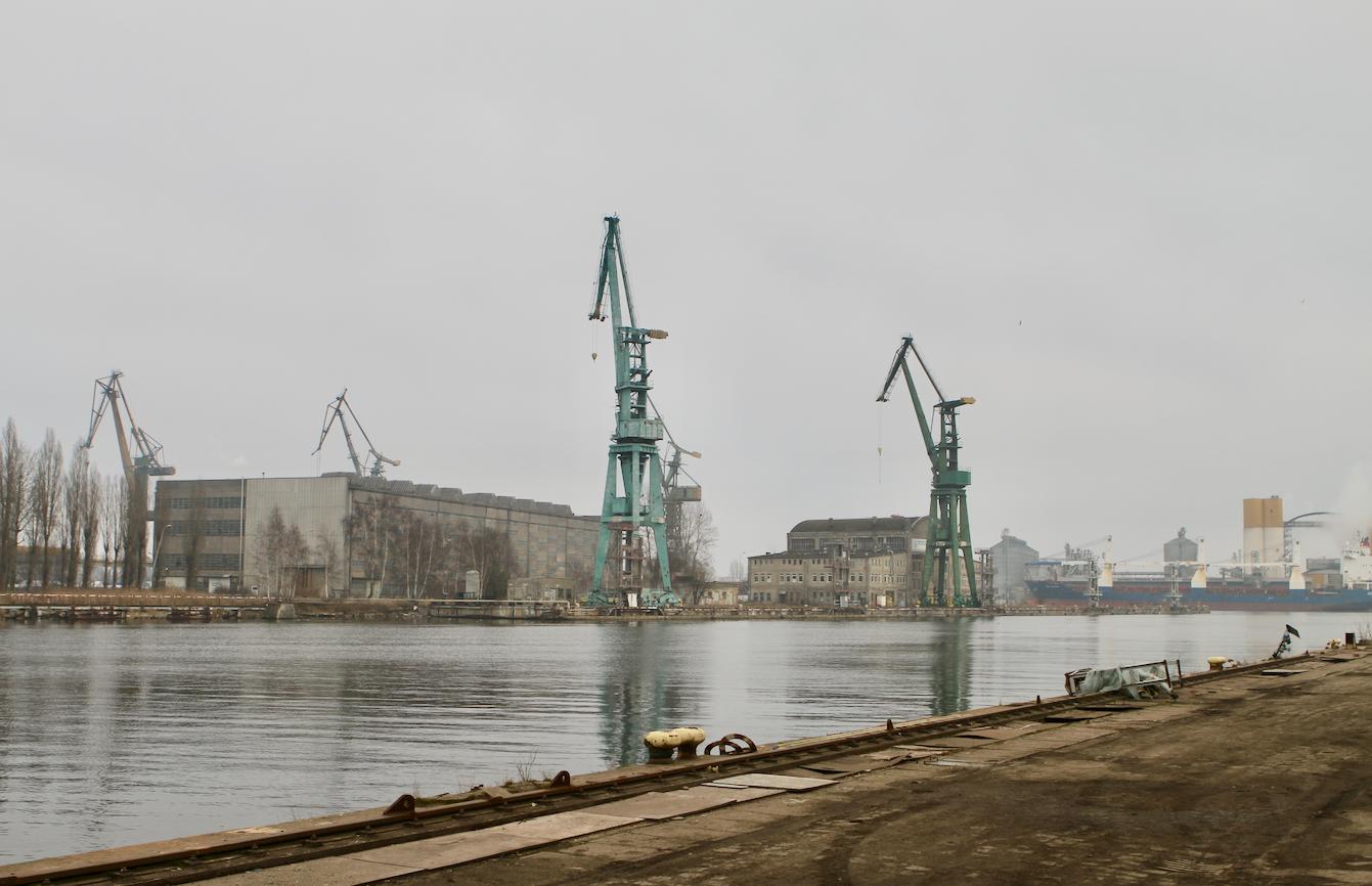 Tereny stoczniowe, luty 2016 r.