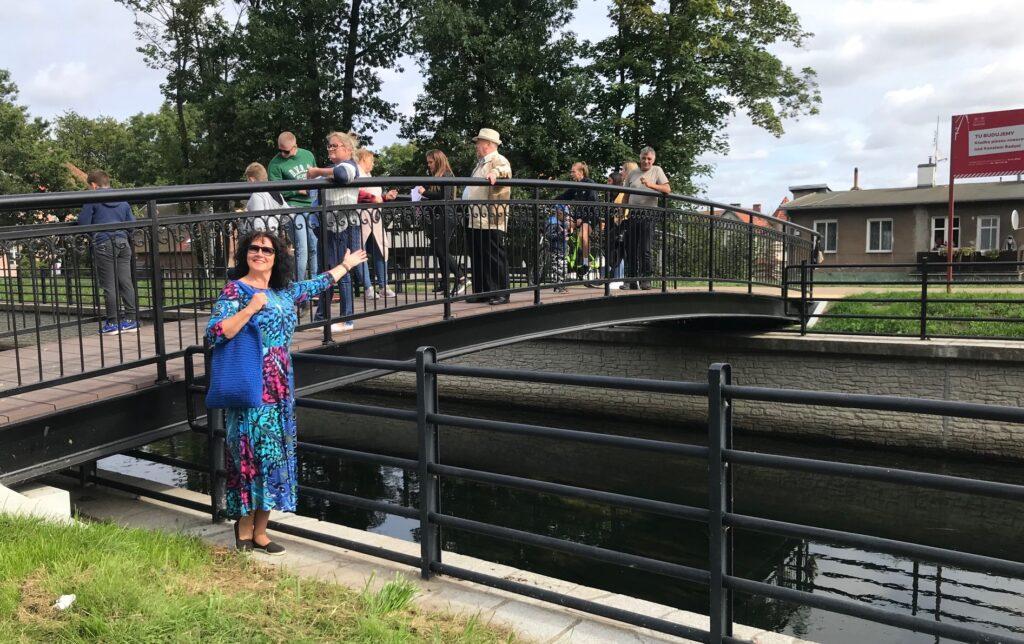 Kładka nad kanałem Raduni. Gdańsk Lipce