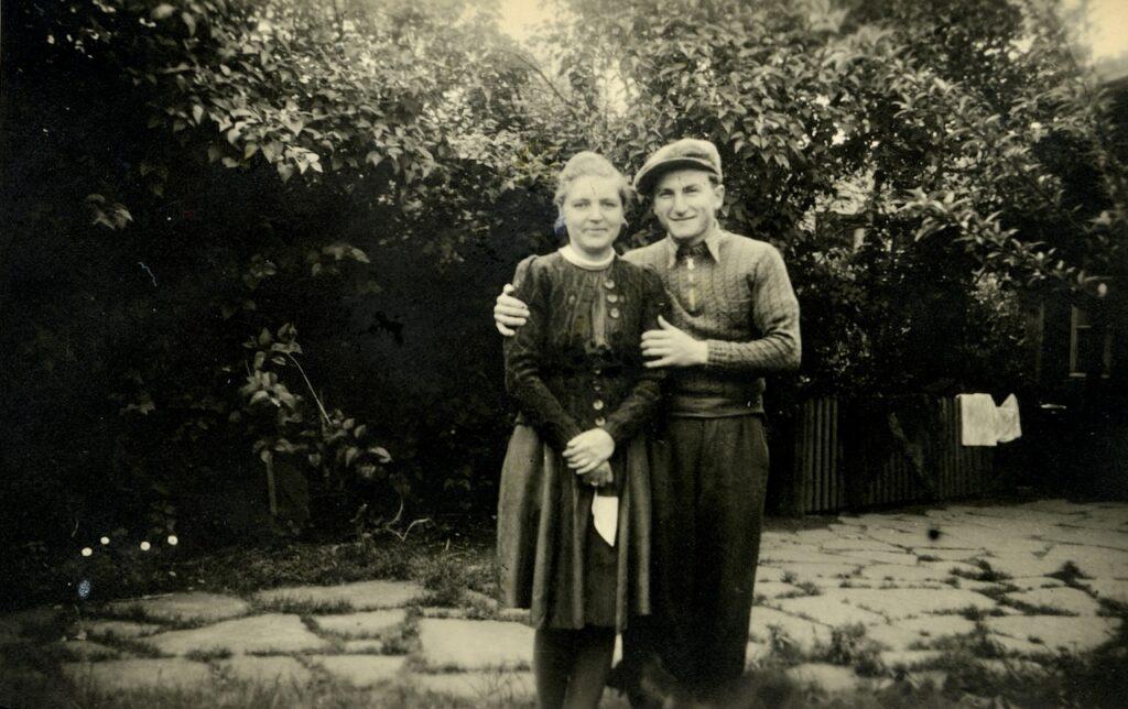 Brunon Zwarra z żoną